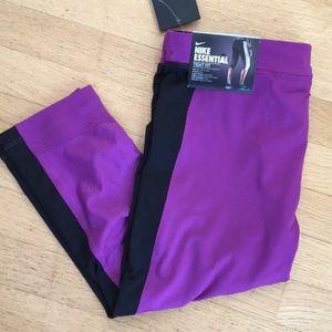 Nike Essential Dri-Fit purple Capri legging tights